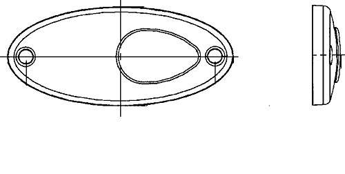 HELLA 2PS 964 295-061 Luce demarcazione laterale
