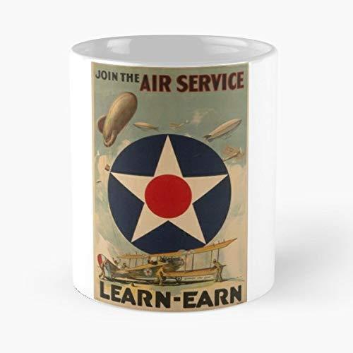 (Air Service Gift Coffee/tea Ceramic Mug 11 Oz)