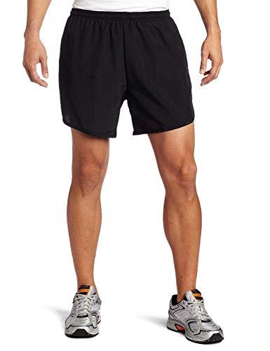 Soffe Men's Running Short with Pocket, Black, Medium