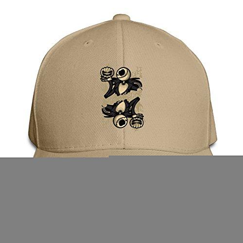 Karoda Jack Of Pumpkin Nightmare Sandwich Hunting Peak Hat & Baseball Cap Natural