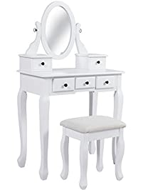 white and gold vanity table. Bathroom Vanity Table Jewelry Makeup Desk Hair Dressing Organizer Drawer Vanities  Benches Amazon com