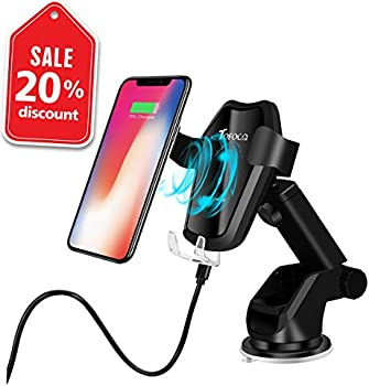 Tofoco com Qi Auto Clamping Car Mount Wireless Charger