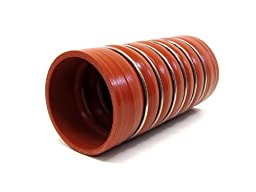 HPS CAC-350-L8-HOT Silicone High Temperature 4-ply Aramid Reinforced Charge Air Cooler CAC Hose Hot Side, 100 PSI Maximum Pressure, 8\