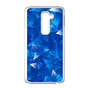 Blue crystal pattern fashion phone case for LG G2