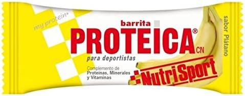 Nutrisport Barrita Proteica 12 x 46g Plátano: Amazon.es ...