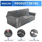 MAXIJIN Thick Velvet Sofa Covers 3 Seater Super Stretch Couch Cover for Dogs Cat Pet Friendly 1-Piece Elastic Furniture…