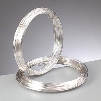 Kupferdraht, silber für Schmuck, Durchmesser 1,20 mm, 3 Herrn ...