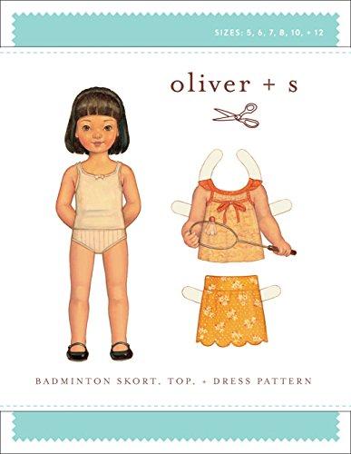 Badminton Skort, Top + Dress Sewing Pattern (Sizes 5-12)