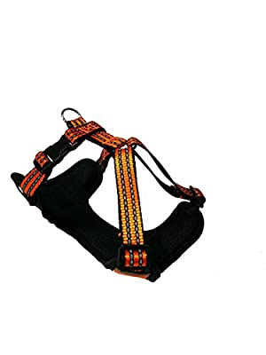 Maychan Dog Harness Reflective Adjustable No Pull Dog Harness Vest, Leash Excluded