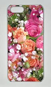 Baby's Breath and Candy Roses Iphone 5 5S Hard Shell with Transparent Edges Cover Case by Lilyshouse