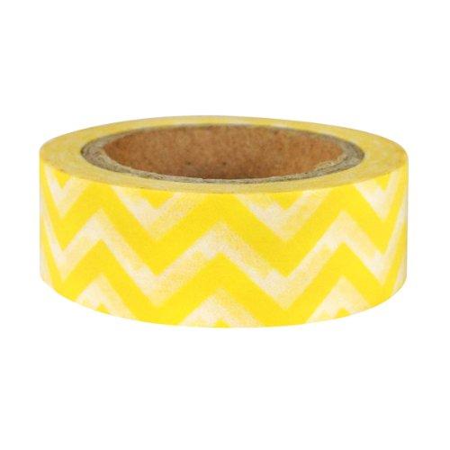 AllyDrew Striped Japanese Washi Masking Tape - Yellow Chevron