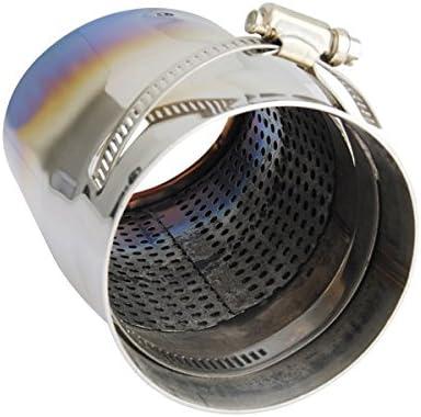 GOZAR Universal 70Mm Durchmesser Extended Edition Titanium Blue Auspuff Auspuff Endschalld/ämpfer Schalld/ämpfer