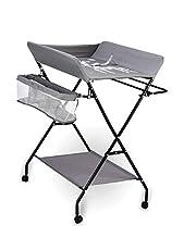Inklapbare commode met opbergvakken, babycombi opbergvakken, draagbaar opbergvak en opbergmand, ergonomische hoogte