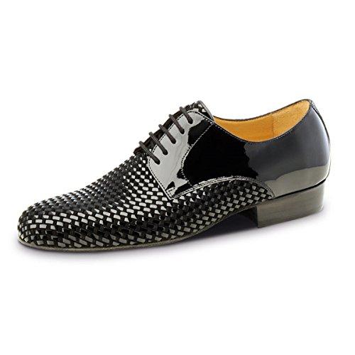 Nueva Epoca–Hombre Tango/Salsa Zapatos de baile Rio Negro–Lacado/piel negro, negro, UK 8.5 | EUR 43 1/3