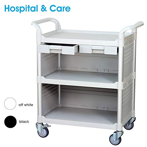 - [Before Decide, Must See This cart ] JaboEquip Commercial Cabinet Rolling Utility Carts with Drawers Hospital Service Trolley Discounted