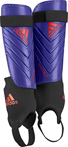 adidas Predator Club Shin Guard,Night Flash Purple/Solar Red, Large ()
