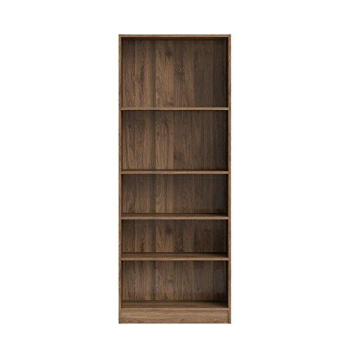 Tvilum 71777dj Element Tall Wide 5 Shelf Bookcase, Walnut ()