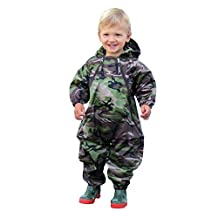 TUFFO Toddler Boys' Muddy Buddy Coveralls, Camouflage, 5T