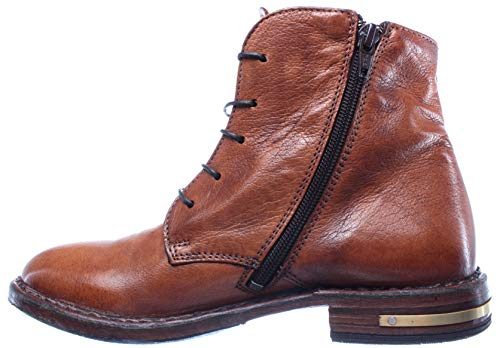 Brown Pelle R1 Women's Shoes Vintage Boots 83705 MOMA Italy Made Ankle Leather R6HgwqaZa