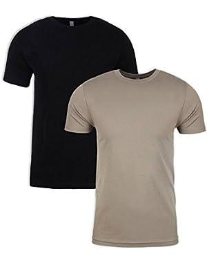 N6210 T-Shirt, Black + Warm Grey (2 Pack), X-Large
