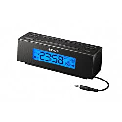 New Clock Radio Nature Sounds Display Temperature Built-In Audio Cable Digital Music Player by Sony