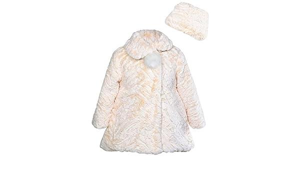 c4fd1a480af4 Amazon.com  Widgeon Little Girls  Button Front Faux Fur Coat ...