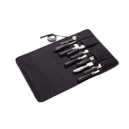 Knife Roll Bag for Chefs, 10 Pockets Tool Roll for Knives, Portable Chef Knife Wrap, Unisex Kitchen Utensils Tool Roll Up Storage Bag for Chef Or Culinary Enthusiasts DD24