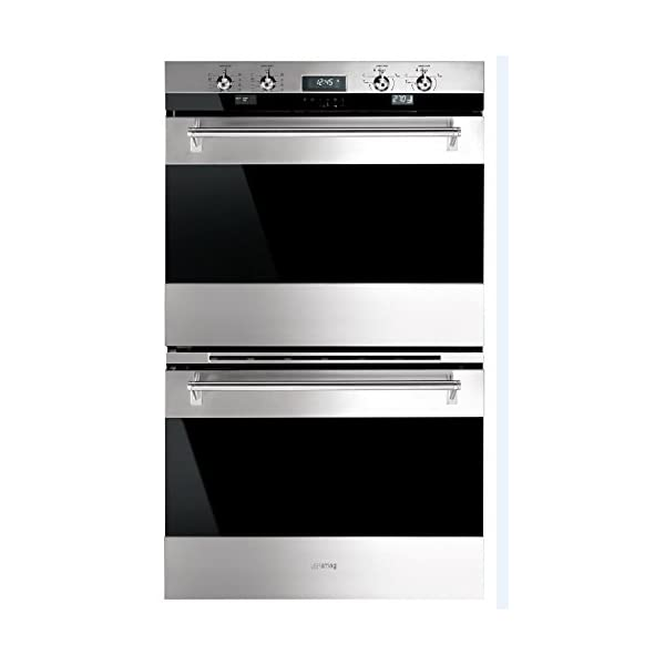 "Smeg DOU330X1 30"" Classic Electric Multifunction Double Wall Oven with 10 Cooking Modes in Each Oven, Stainless Steel 1"
