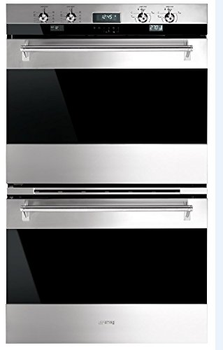 Smeg DOU330X1 30″ Classic Electric Multifunction Double Wall Oven with 10 Cooking Modes in Each Oven, Stainless Steel