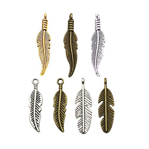 105pcs Craft Supplies Dream Catcher Feather Charms Pendants for Jewelry Making Findings Accessory for DIY Bracelet Necklace -