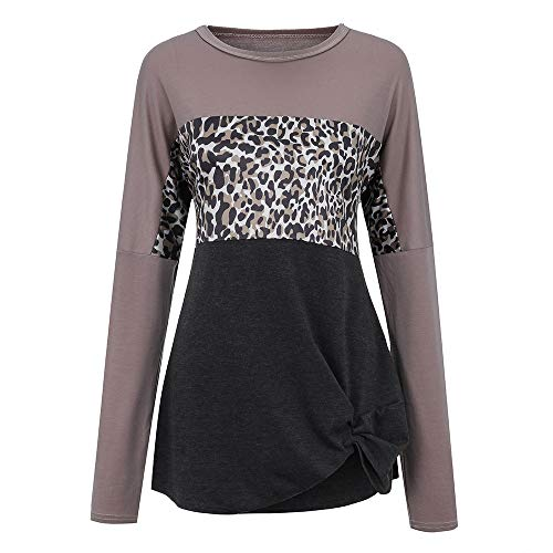 48af60357b2b Woaills-Tops 2018 New!!Ladies Patchwork O-Neck Loose Top,Women Long ...