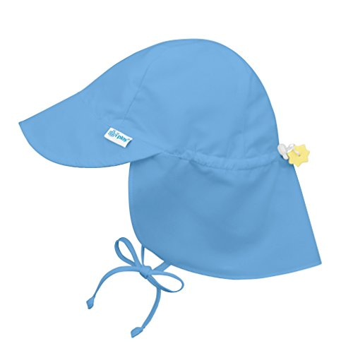 i play. Baby Flap Sun Protection Swim Hat, Light Blue, 9-18 Months
