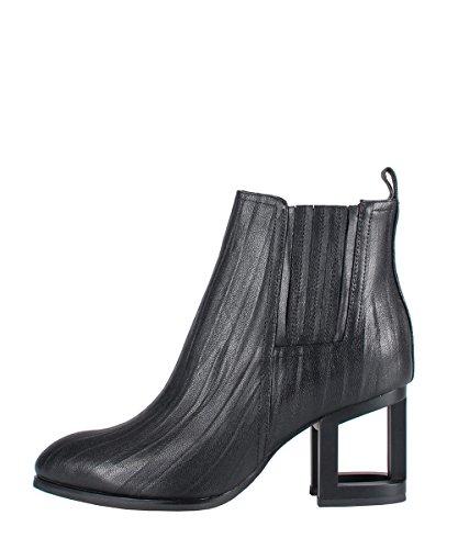 Jeffrey Campbell Dulcet Mhh Black–Botas Negro Tacón de metal negro negro
