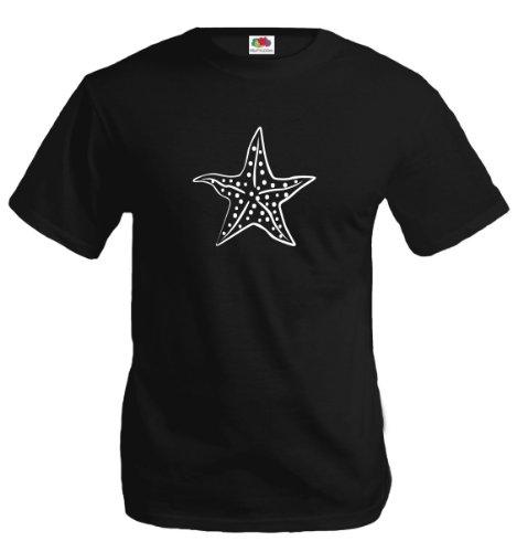 T-Shirt Asteroidea-XXXL-Black-White