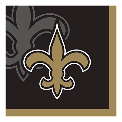 Creative Converting Officially Licensed NFL Paper Beverage Napkins, 192-Count, New Orleans Saints