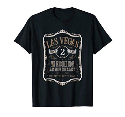 Las Vegas 2nd Wedding Anniversary Gift T-Shirt - Men Women