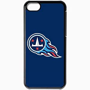 Personalized iPhone 5C Cell phone Case/Cover Skin Nfl Tennessee Titans 3 Sport Black