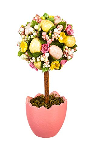 Cypress-Home-Potted-Easter-Egg-Artificial-Topiaries-Set-of-2