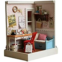 Cuteroom DIY Wooden Dollhouse Warm Memory Handmade Decorations Model with LED Light and Cover