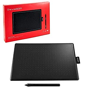 Wacom One by CTL-472/K0-CX Small 6-inch x 3.5-inch Graphic Tablet (Red/Black)