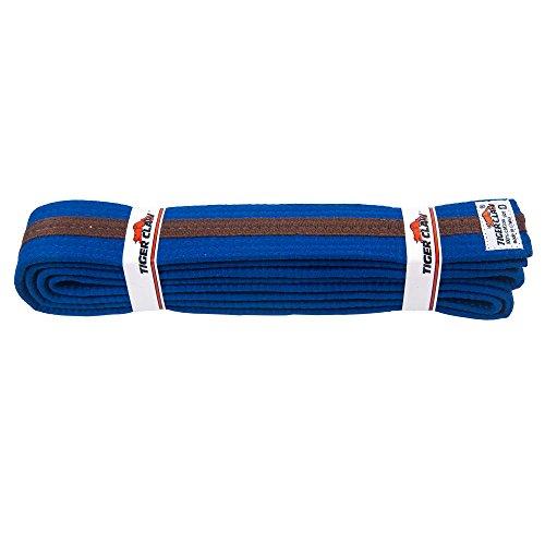 Tiger Claw Uniform Belt - Blue With Brown Stripe #0 ()