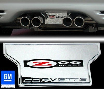 Corvette Exhaust Plate - Billet Chrome with Z06 405HP for sale  Delivered anywhere in USA