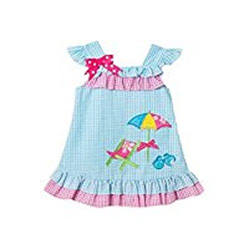Rare Editions Toddler Turquoise Seersucker Beach Dress (2t-4t) (3t) ()