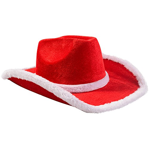 [Santa Hat Pick Your Style - Funny Party Hats TM (Santa Cowboy Hat)] (Crazy Christmas Hats)
