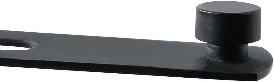 Alise MK001/acero inoxidable puerta pestillos mascota gate-latch perno en forma de puerta de seguridad Latch Lock color negro mate
