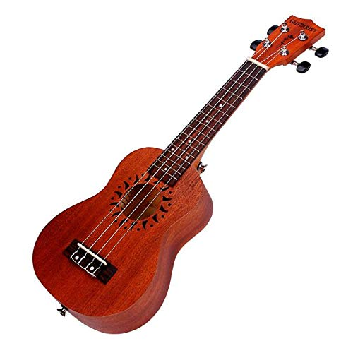(Troent 21 Inch Soprano Ukulele Sapele 15 Frets Musical Instrument Hawaiian Guitar [Ship from USA Directly] (54 x 18 x 6cm, Brown))