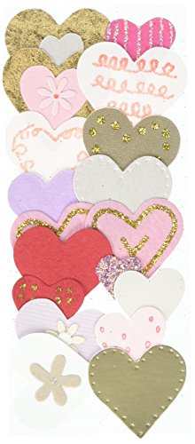 Dimensional Heart (Jolee's By You Dimensional Sticker, Pink and Gold Hearts)