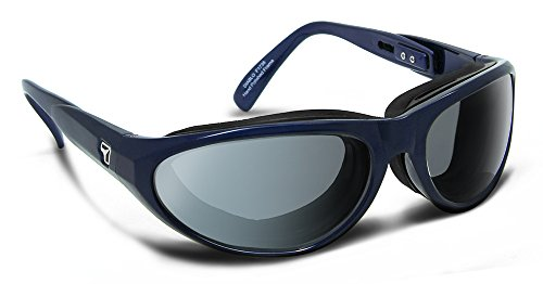 7eye by Panoptx Diablo in Charcoal Frame Sunglasses with Photochromic Gray Lens, Midnight Blue, - Sunglass Panoptx