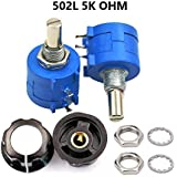 3590S-2-502L 5K Ohm Rotary Wirewound Precision Potentiometer Pot 10 Turn