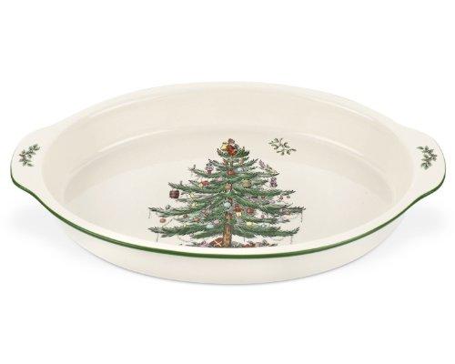Spode Christmas Tree Au Gratin Dish 11.5 Inch